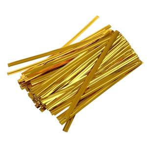Gold Twist Ties (100 pieces)