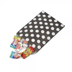 Black Polka Dot Paper Bags (20 pieces)