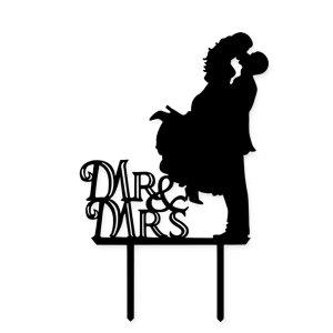Acrylic Mr & Mrs Cake Topper