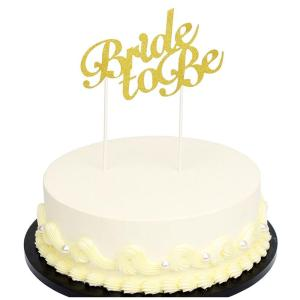 Golden Bride To Be Cake Topper