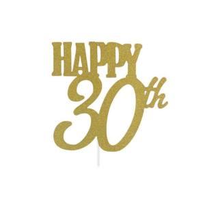 Happy 30th Cake Topper
