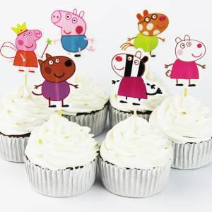 Peppa Pig Cupcake Toppers (Pack of 24)