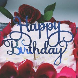 "Blue ""Happy Birthday"" Cake Topper"