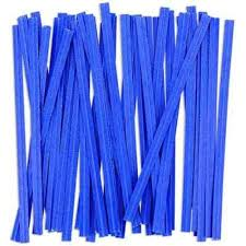 Blue Twist Ties 7cm (100 pieces)