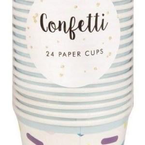 Confetti Multicolour Paper Cups (24 pieces)