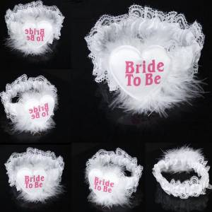 "Lace Garter ""Bride To Be"" - White"