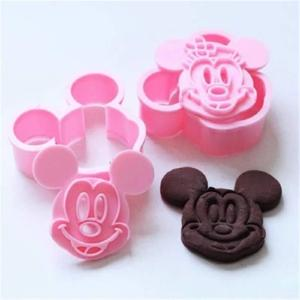 Mickey and Minnie Cookie Cutters Set (4 pieces)