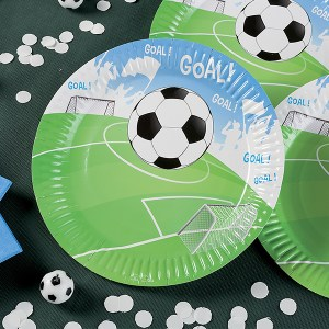 Football Paper Plates 23 cm (10 pieces)