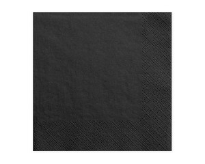 Black Napkins (Pack of 20)