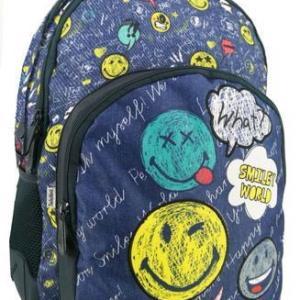 Smiley World Backpack School 32Χ16Χ45cm