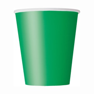 Green SOLID Cups (8 pieces)