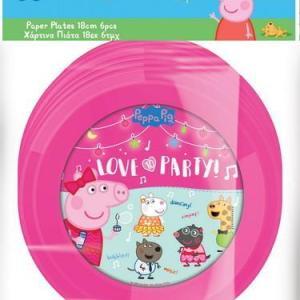 Peppa Pig Plates 23cm (6 pieces)