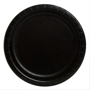 Black SOLID Plates 23cm (8 pieces)