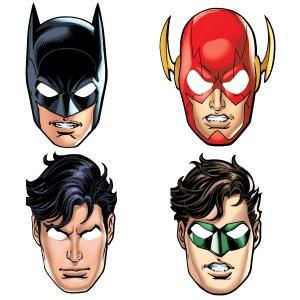 JUSTICE LEAGUE paper Masks (8 pieces)