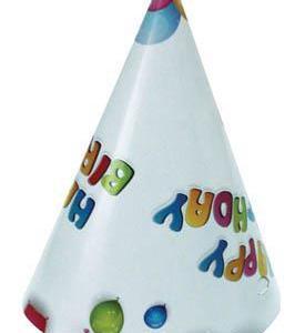 Happy Birthday Cone Hats (6 pieces)