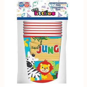 Jungle Animals Cups (6 pieces)