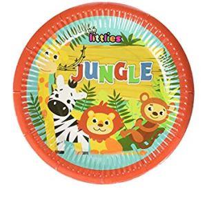 Jungle Animals Plates 18cm (6 pieces)