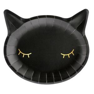 Kitty Black Plates 22x20cm (6 pieces)