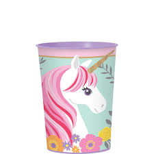 Unicorn Plastic Cup 455ml & Candies GIFT
