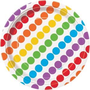 Rainbow Plates 18cm (8 pieces)