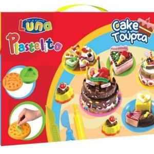 LUNA Soft Dough CAKE Χ18pcs, 6 colors and moulds