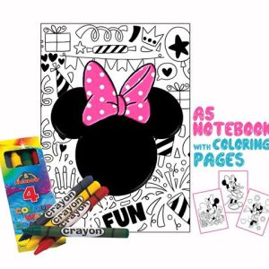 Minnie Mouse Coloring Book 14x20cm & Crayons Gift
