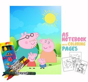 Peppa Pig Coloring Book 14x20cm & Crayons Gift