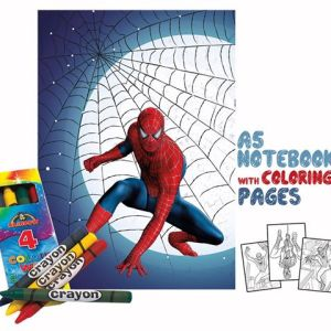 Spiderman Coloring Book 14x20cm & Crayons Gift