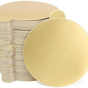 20 per pack Gold Round Cake Boards 8cm - Thin