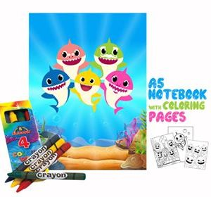Baby Shark Coloring Book 14x20cm & Crayons Gift