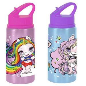 Unicorn Poopsie Metallic Bottle with straw BPA FREE 500ml
