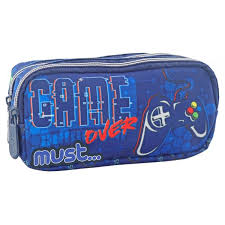 MUST Gamer Pencil Case 2 zipper 20Χ6X9cm