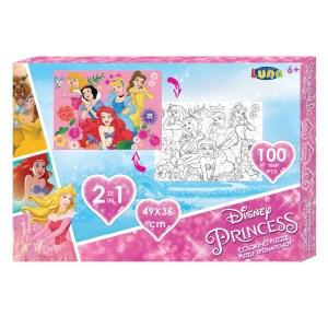 PUZZLE double sided Coloring 100pcs 49x36cm Princess (6+)