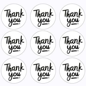 "24 ""Thank you"" Stickers WHITE (4cm)"