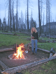 Julie at the Campfire