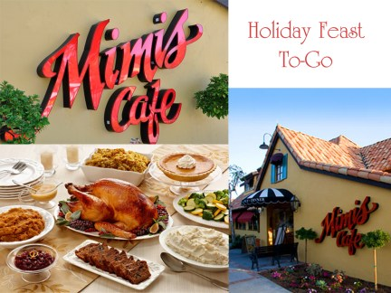 Holiday Meals On the Go With Mimi's Cafe