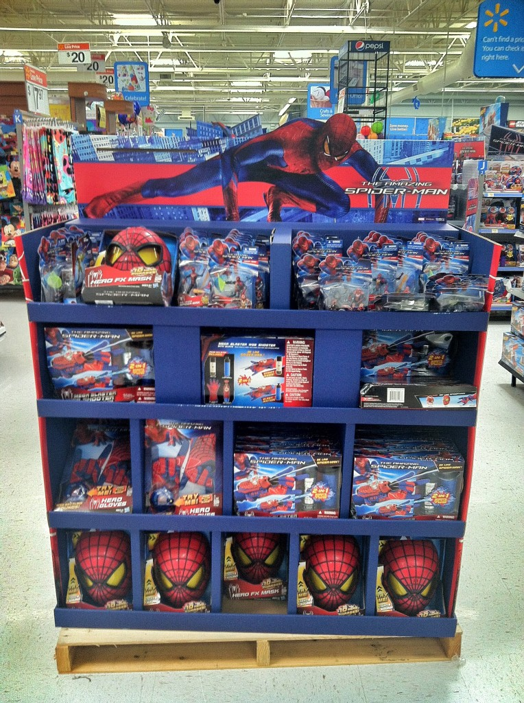 The Amazing Spider Man Slinging His Web At Your Local Walmart