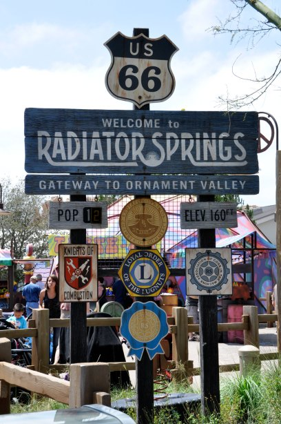 Welcome To Radiator Springs Sign