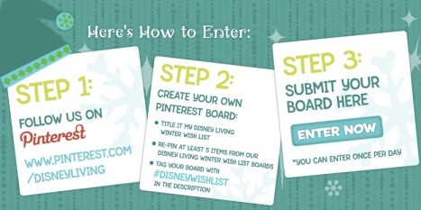 Disney Living Pinterest Contest