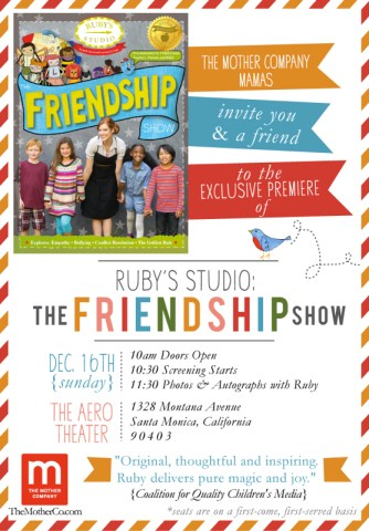 The Friendship Show Invite
