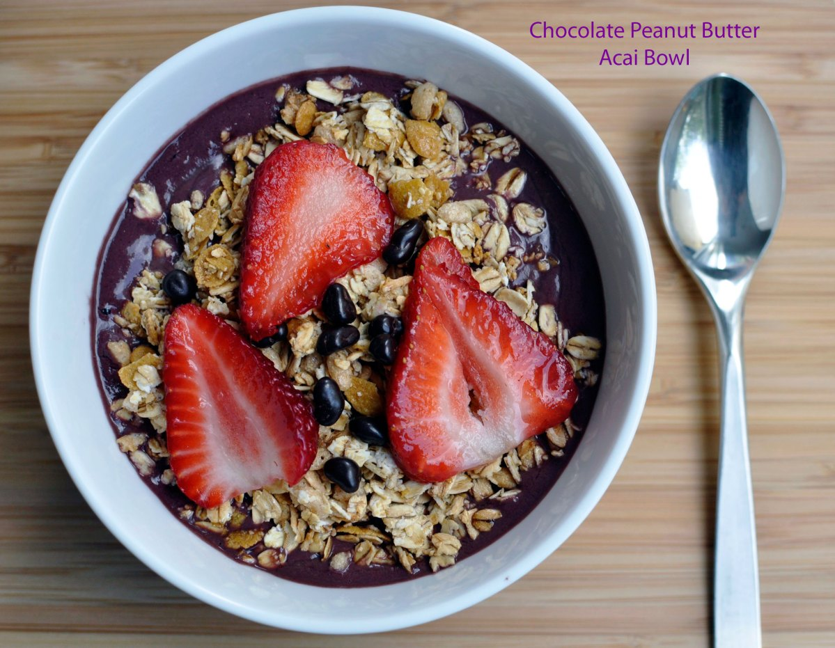 Recipe:  Chocolate Peanut Butter Acai Bowl
