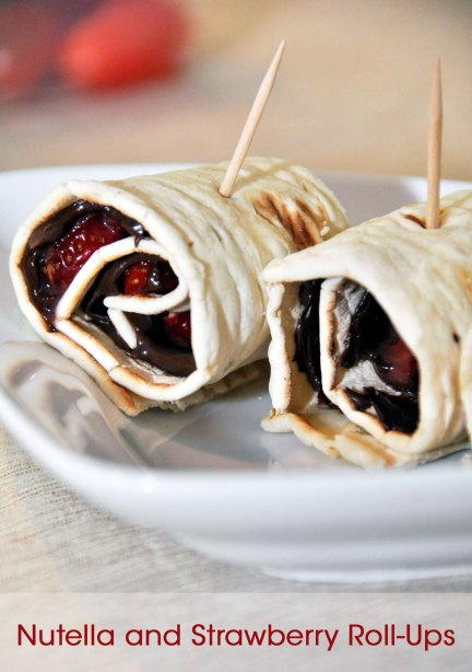 Nutella and Strawberry Roll-Ups