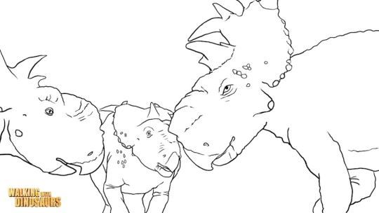 Walking With Dinosaurs Coloring Page