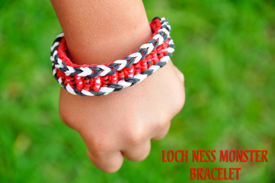 Monster Tail by Rainbow Loom Loch Ness Monster Bracelet Tutorial