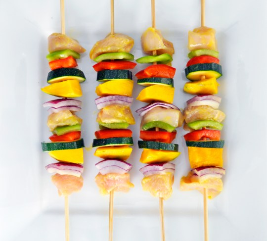 Mango Chicken Skewers Prep
