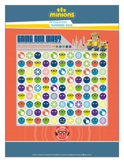 Minions Activity Sheet
