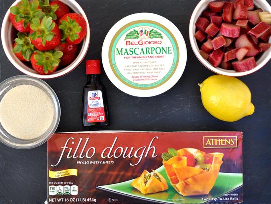 Strawberry Rhubarb Tart Ingredients