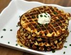 Leftover Mascarpone Mashed Potato Waffles