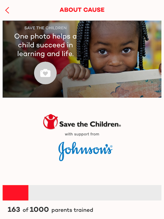 Save the Children and JOHNSON'S