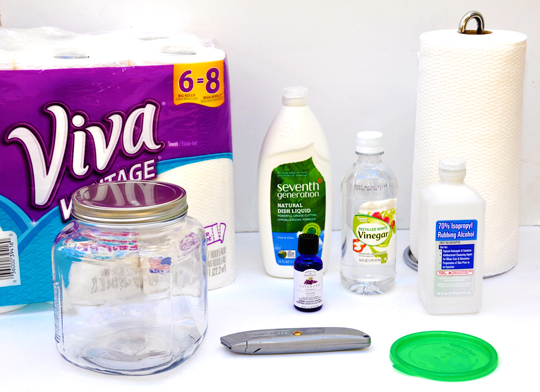 DIY Cleaning Wipes Supplies
